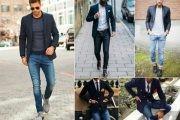 Мужской пиджак под джинсы: варианты гармоничного сочетания