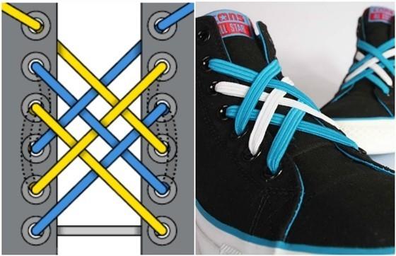 d48af8c0 Как видите, завязать красиво шнурки на кедах по этой схеме достаточно  легко. Главное, понять принцип – каждый «крест» расположен в условном  квадрате, ...