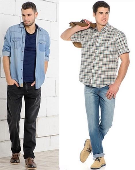 Луки, как носить рубашку с джинсами девушке: 40 фото