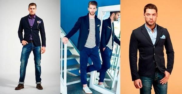 какой пиджак можно носить с джинсами мужчинам всегда