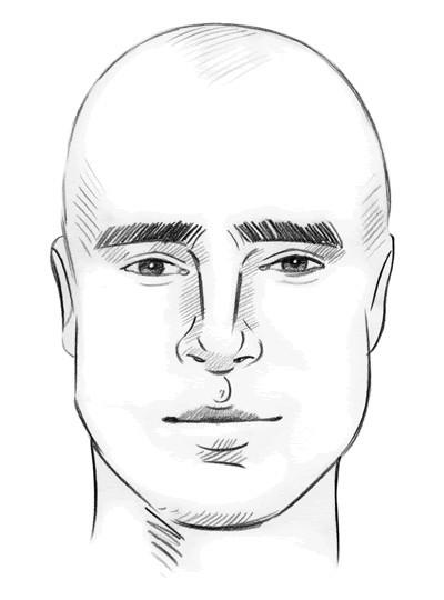 Овальная форма лица у мужчин