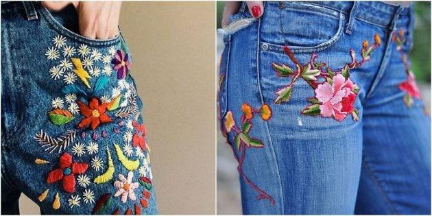 Как красиво зашить или замаскировать дырку на джинсах